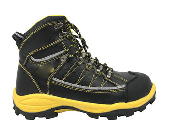 Cina ElectroStatic Discharge High Top Work Boots Tekstil / Disuntikkan PU Untuk Logistik Distributor