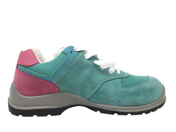 Cina Sepatu Safety Blue Sky Ladies Suede Leather Upper Pink Collar Untuk Musim Panas Distributor